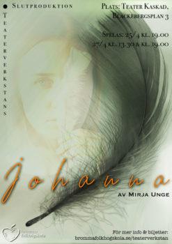 """Affisch för pjäsen """"Johanna"""""""